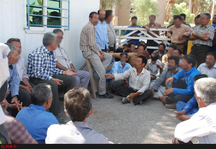تجمع کارگران ارگ بم در اعتراض به 4 ماه مزد معوقه