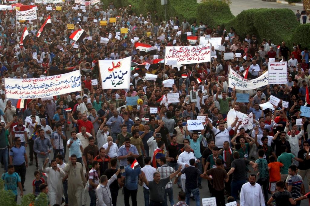 تظاهركنندگان شهرهای جنوبی عراق خواستار خروج مزدوران ایرانی و عدم دخالت در امور داخلی خود شدند