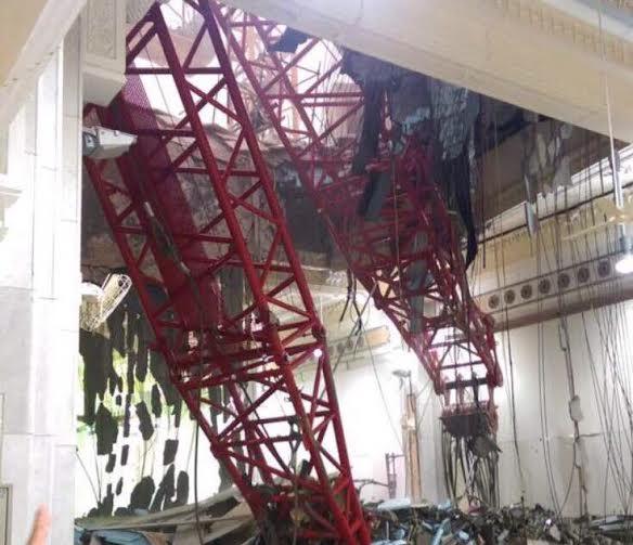 سقوط جرثقیل در مکه 107 کشته و 238 زخمی برجای گذاشت