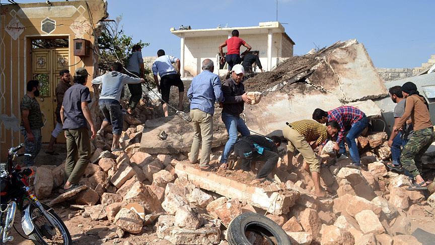 کشته شدن بیش از 42 غیر نظامی توسط جنگندههای روسی به حومه لاذقیه