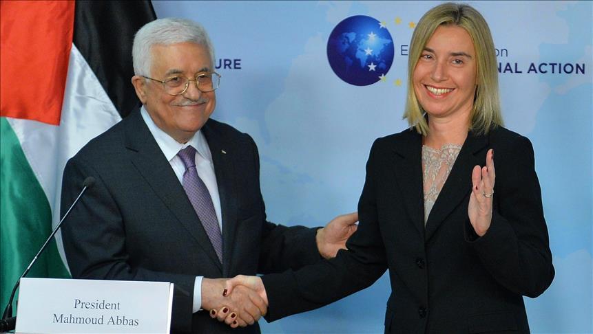 دیدارمحمود عباس با موگرینی