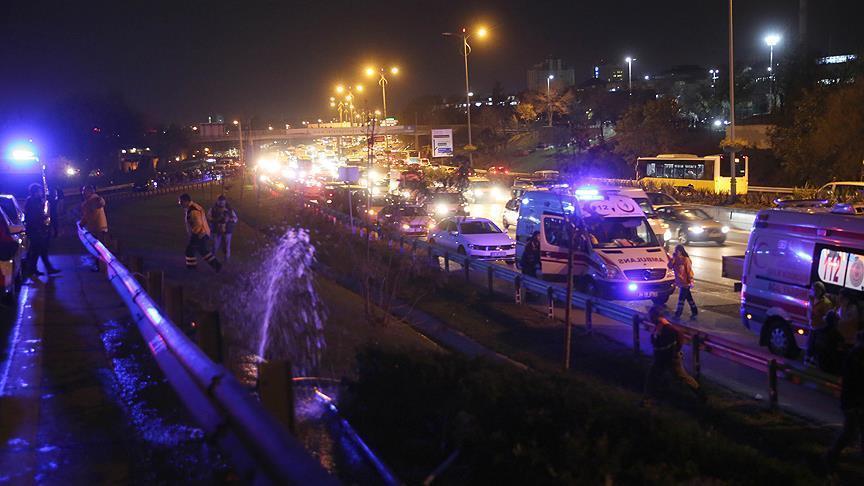 انفجار در پل هوایی در منطقه بایرامپاشای شهر استانبول