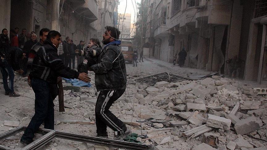 کاربرد بمب خوشه ای از طرف روسیه و رژیم اسد در سوریه
