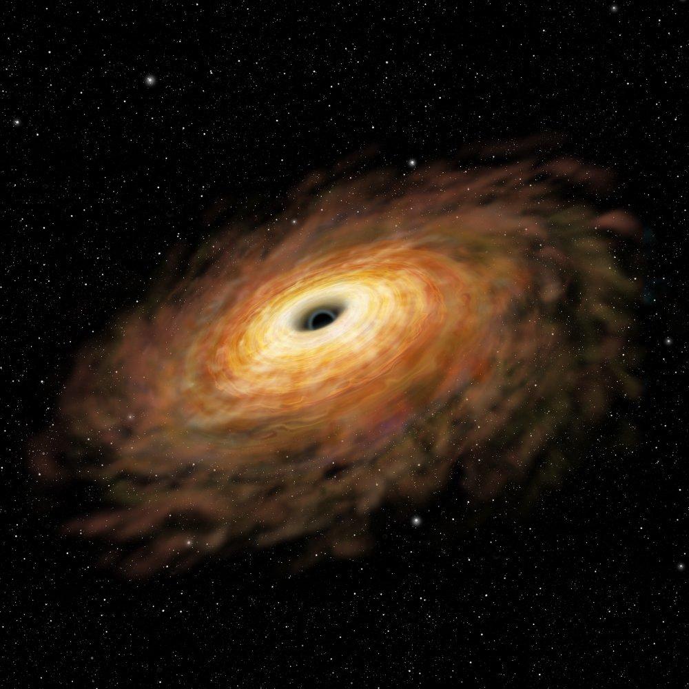 تکه پاره شدن یک کهکشان درخشان توسط سیاهچاله ای عظیم