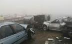 ویدیوی تصادف وحشتناک زنجیره ای 130 خودرو در مشهد