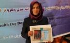دختر نوجوان افغان در مسابقه سازمان بهداشت جهانی مقام سوم را کسب کرد