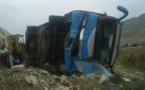 دو کشته و 15 زخمی در واژگونی اتوبوس توریست های آلمانی