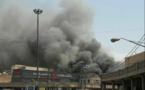 آتش سوزی پاساژ رضوان در احواز 9 زخمی برجای گذاشت + تصاویر