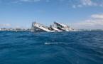 ویدئو- غرق شدن یک کشتی توریستی در کلمبیا