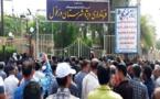 تجمع و اعتراض نسبت به انتقال آب  و درگیری با نیروی انتظامی مقابل فرمانداری دزفول