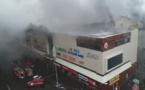 آتش سوزی در یک مرکز تجاری در روسیه به مرگ دستکم ۶۰ نفر منجر شد