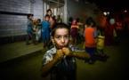 کودکان عرب اهوازی مراسم سنتی جشن گرگیعان را برای اولین بار آزادانه برپا کردند