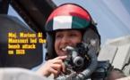 حضور ومشارکت خلبان زن اماراتی در حملات علیه داعش +فیلم
